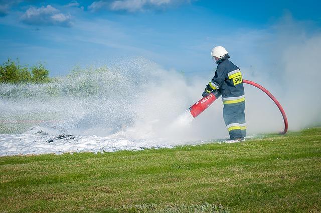 Ćwiczenia pożarowe w DPS Skubarczewo